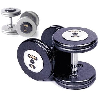 Troy Barbell Pro-Style Dumbbells - Gray Plates And Chrome End Caps