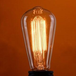 Costway 4 Pack 110V 60W Squirrel Cage Filament Light Bulb Vintage Retro Edison E26 Base