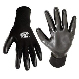 Workin' Multi Purpose Safety Utility Work Garden Gloves - Large (2 Pairs)