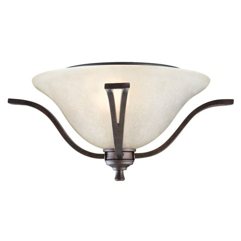 Design House 517532 Ironwood Transitional 2 Light Ambient Lighting Semi-Flush Ceiling Fixture