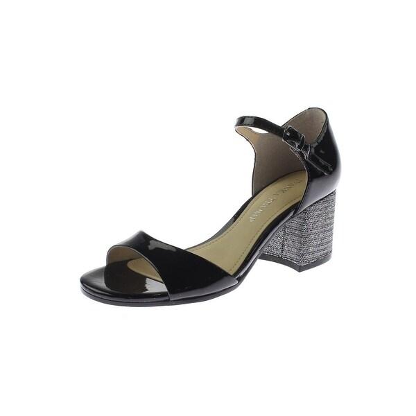 Ivanka Trump Womens Easta Dress Sandals Patent Leather Ankle Strap - 5 medium (b,m)
