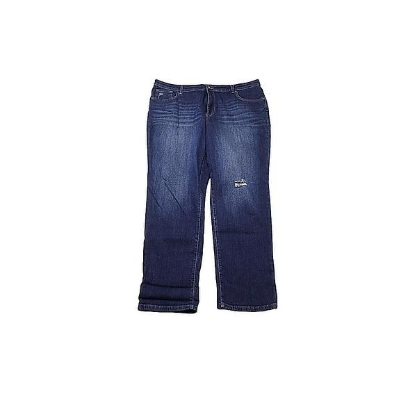 757fecfb80a Shop Style   Co Plus Size Blue Boyfriend-Fit Jeans 14W - Free ...