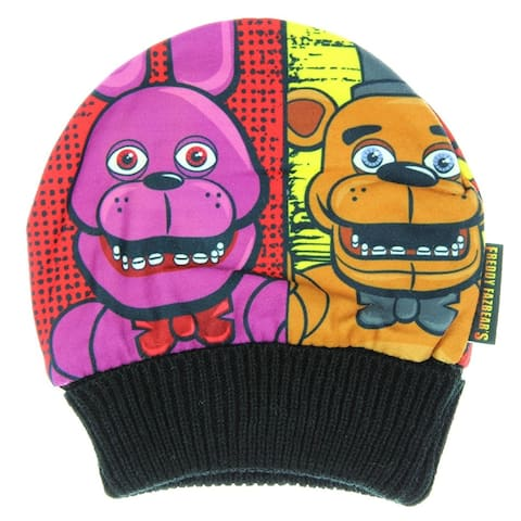 Five Nights at Freddy's Youth Panel Beanie - Black