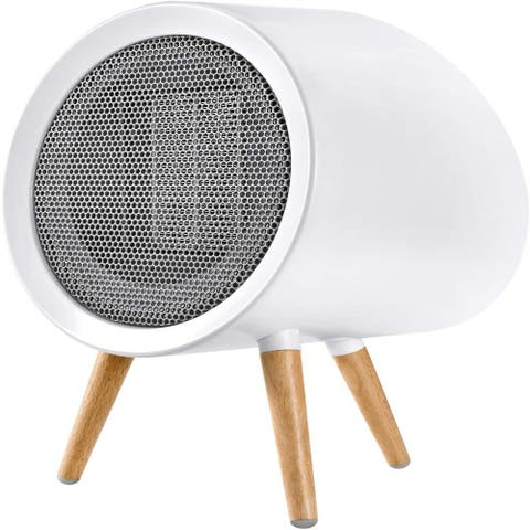 Energy Efficient Small Space Heater for small space, PTC Ceramic.Adjustable cold and heat dual use for winter and summer - White