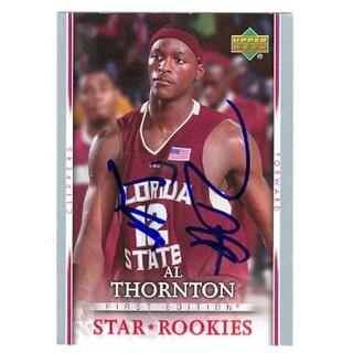 Al Thornton Autographed Basketball Card Florida State 2007 Upper