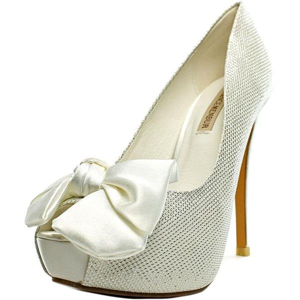 Menbur Hermon Women Open-Toe Synthetic White Heels