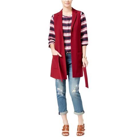 Tommy Hilfiger Womens Belted Fashion Vest