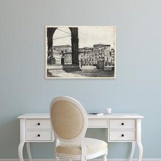 Easy Art Prints Unknown's 'Scenes in Firenze I' Premium Canvas Art