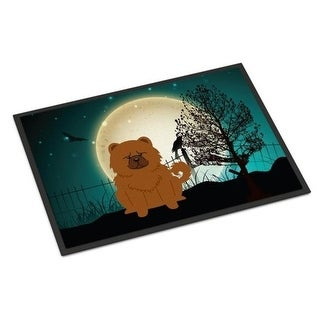 Carolines Treasures BB2332MAT Halloween Scary Chow Chow Red Indoor or Outdoor Mat 18 x 0.25 x 27 in.