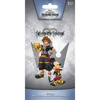 "Kingdom Hearts Sora & Mickey 4""x8"" Color Decal - multi"