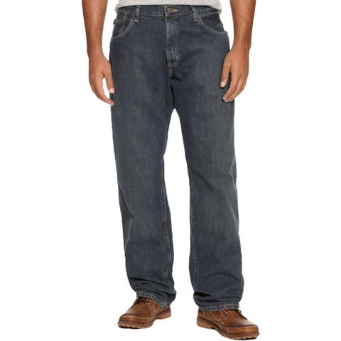 Nautica Mens Big & Tall Anchor Straight Leg Jeans Dark Wash Relaxed Fit