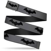 Retro Bat Logo Fcg Gray Black Chrome Retro Bat Logo Gray Black Webbing Web Belt