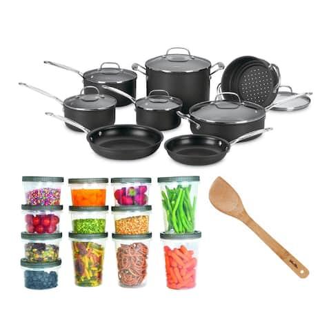 Cuisinart 66-14N 14 Piece Chef's Classic Non-Stick Cookware Set Bundle