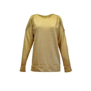 Cowgirl Tuff Western Sweatshirt Womens Pull Over Studs Cream F00331