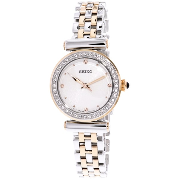 Seiko Women S Silver Stainless Steel Quartz Fashion Watch Free Shipping Today 20194467