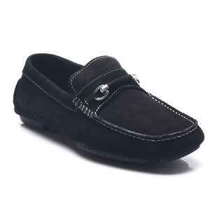 Bruno Magli Men's Suede Leather Pogia Driving Shoes Loafers Black