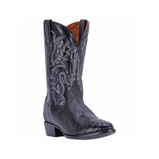 Dan Post Western Boots Mens Leather R Toe Cowboy Heel Black DPP5203