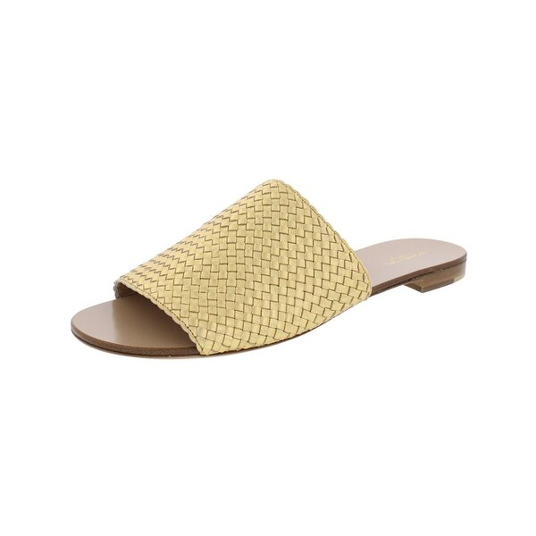 Michael Kors Womens Byrne Slide Sandals Metallic Open Toe
