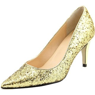 Cole Haan Juliana Pump 75 Women Pointed Toe Synthetic Gold Heels