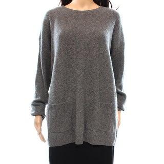 Lauren Ralph Lauren NEW Gray Womens Large L Boat Neck Cashmere Sweater