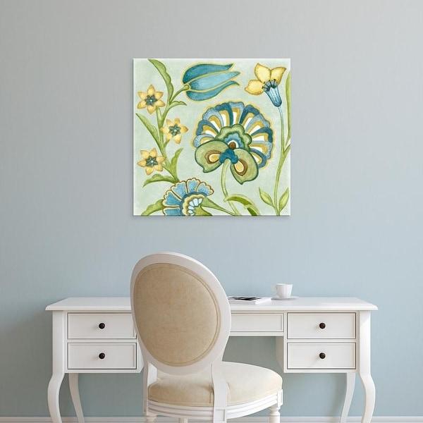 Easy Art Prints Sydney Wright's 'Decorative Golden Bloom II' Premium Canvas Art