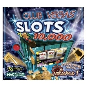 Selectsoft LGCV10MS1J Selectsoft Club Vegas Slots 10,000 Volume 1 - Entertainment Game Jewel Case Retail - Mac, Intel-based Mac