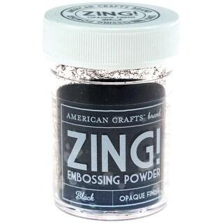 Zing! Opaque Embossing Powder 1oz-Black - Black
