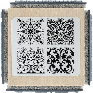 """Stampendous Cube Rubber Stamp 2.75""""X2.75""""-Ornate Tiles Texture"""