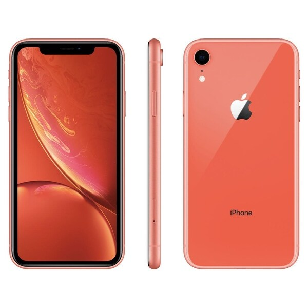 Apple iPhone XR 128GB Coral Fully Unlocked (Refurbished). Opens flyout.