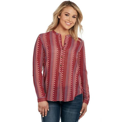 Cowgirl Up Western Shirt Womens Long Sleeve Convertible Button