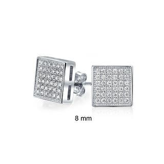 Bling Jewelry Sterling Silver Micro Pave CZ Square Stud Earrings 8mm|https://ak1.ostkcdn.com/images/products/is/images/direct/8e4cbfea9f1e7db081887713c458534a61e36cef/Bling-Jewelry-Sterling-Silver-Micro-Pave-CZ-Square-Stud-Earrings-8mm.jpg?impolicy=medium