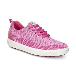 Ecco Womens Golf Casual Hybrid Knit Pink-Beetroot/Fandango 40 Euro 9-9.5 Shoes