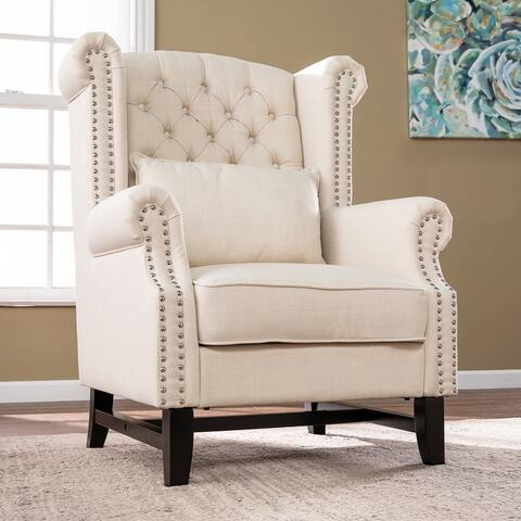 Copper Grove Alfarena Traditional Beige Armchair