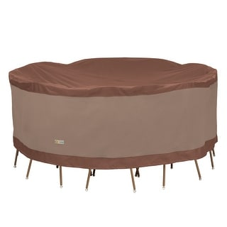 Link to Duck Covers Ultimate Round Table and Chair Set Cover 96in W Similar Items in Patio Furniture