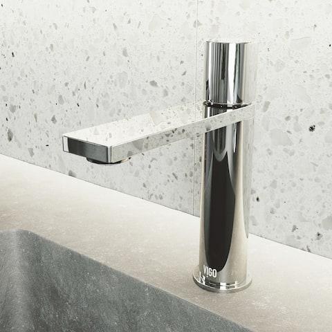 VIGO Halsey 1-Handle Single Hole Bathroom Faucet in Chrome