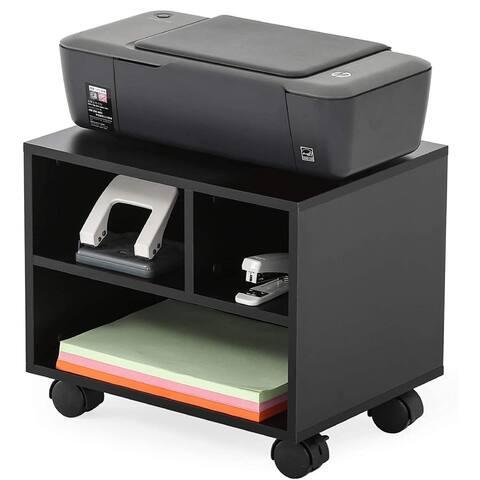 Mobile Under Desk Printer Machine Stand Work Cart with Wheels