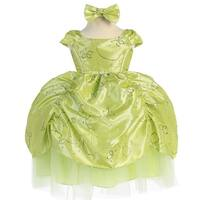 Baby Girls Lime Cinderella Embroidered Taffeta Dress 6-24M