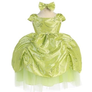 Baby Girls Lime Cinderella Embroidered Taffeta Dress 6-24M (2 options available)