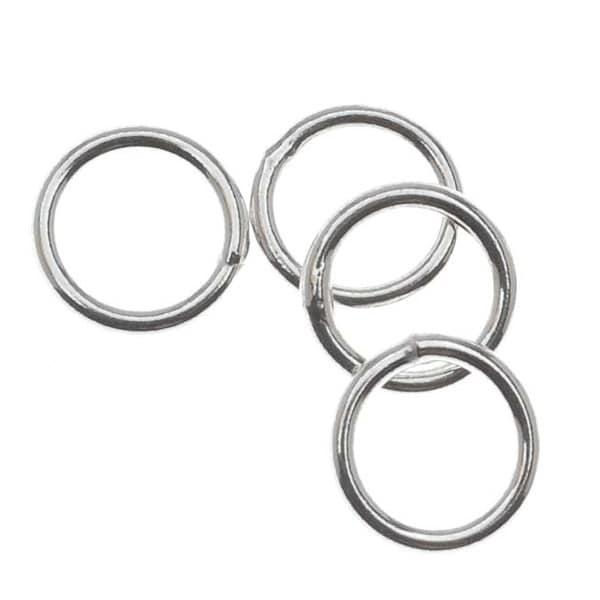 Sterling Silver Closed Jump Rings 6mm 20 Gauge (10)