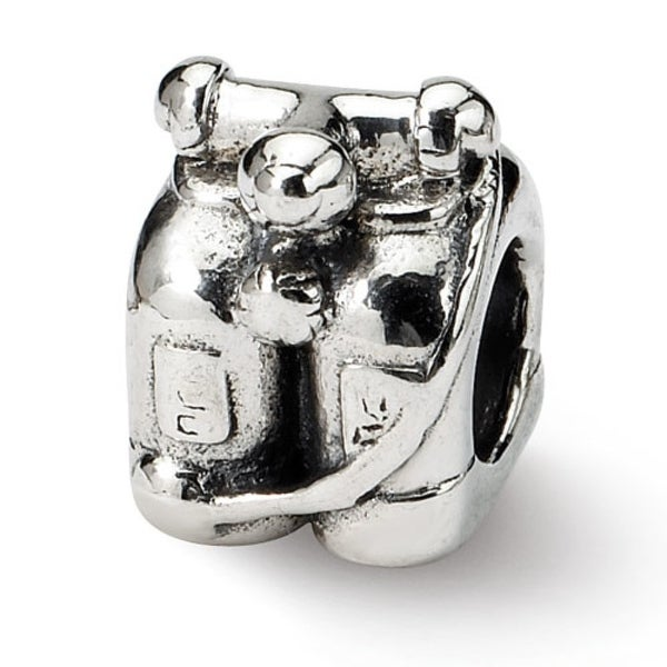 Sterling Silver Reflections Scuba Tanks Bead (4mm Diameter Hole)