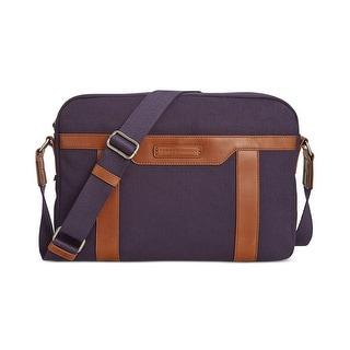 Tommy Hilfiger Mens Messenger Bag Canvas Contrast Trim