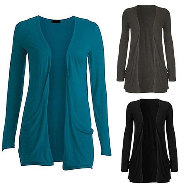 Women Fashion Casual Long Sleeve Pocket Cardigan Sweater Outwear Top Slim Blouse. Opens flyout.
