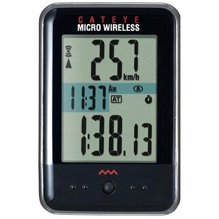 CatEye Micro Wireless Cycling Computer - CC-MC200W Black