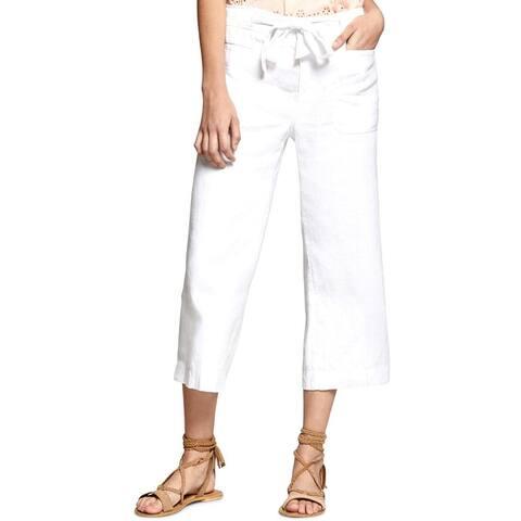 Sanctuary Womens Cargo Pants Linen Flat Front