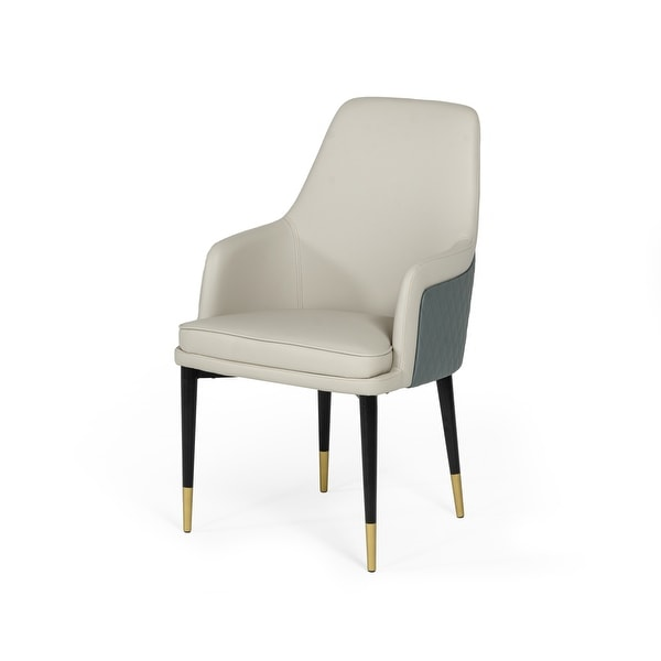 Modrest Duval Modern White & Grey Dining Chair. Opens flyout.