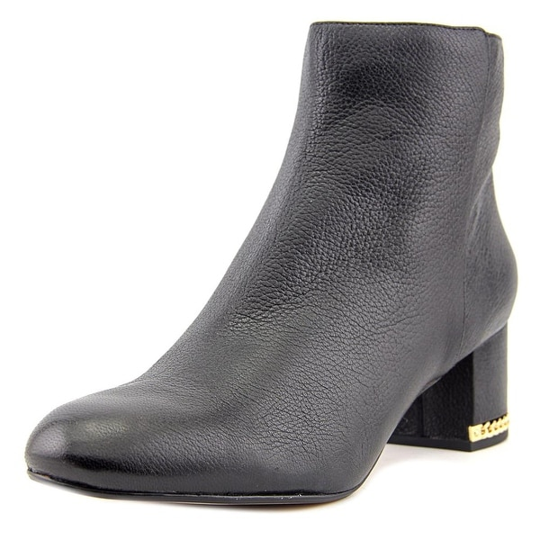 Michael Michael Kors Sabrina Bootie Women Round Toe Leather Black Bootie