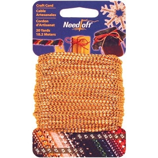 Needloft Novelty Craft Cord 20yd-Metallic Gold