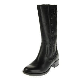 Cobb Hill Womens Calista Riding Boots Leather Mid-Calf