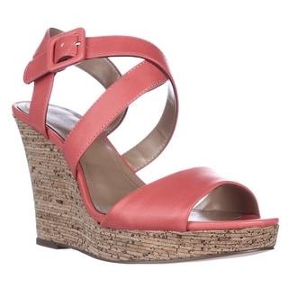 SC35 Allexus Wedge Cork Sandals - Coral