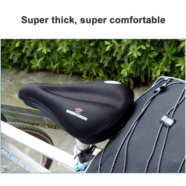 Cycling Saddle Covers Bike Pad Cover Bicycle Silicone Gel Seat Soft Cushion